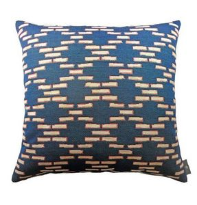 Art De Lys - brick lane, fond bleu - Cuscino Quadrato
