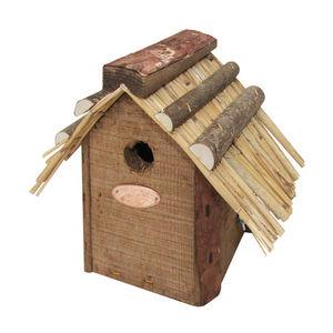 Esschert Design - nichoir toit paille roitelet - Casetta Per Uccelli