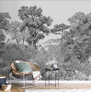 ISIDORE LEROY - forêt bretonne - Carta Da Parati Panoramica