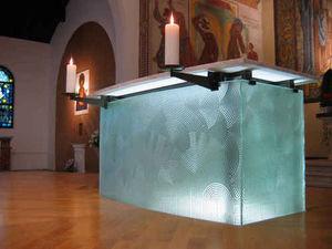 Florent Boissonnet-Glasswork - autel en verre - Altare