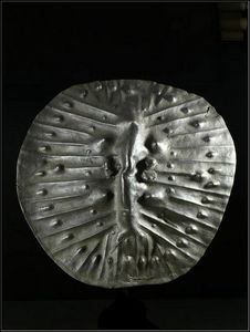 Arts Africains - bouclier en cuir - Scudo