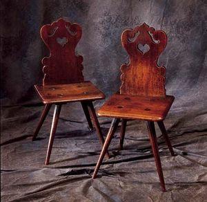 Bertrand Klein - paire de chaises alsaciennes - Sedia