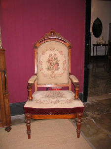 ANTIGÜEDADES BRITANIA - fauteuil voltaire espagnol - Poltrona Voltaire
