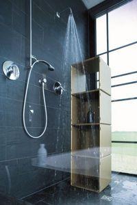 Qubing - colonne de rangement dans une douche à l'italienne - Armadio Bagno