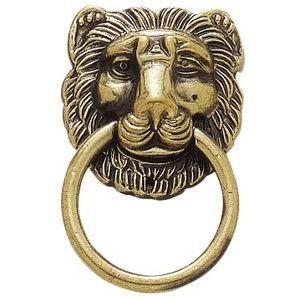 FERRURES ET PATINES - poignée de meuble-tête de lion - Maniglia Per Mobile