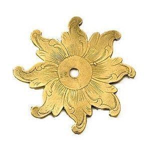 FERRURES ET PATINES - rosace de meuble en bronze grave pour commode, arm - Rosone Porta