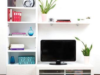 Miliboo - symbiosis compo 1 structure blanche - Mobile Tv & Hifi