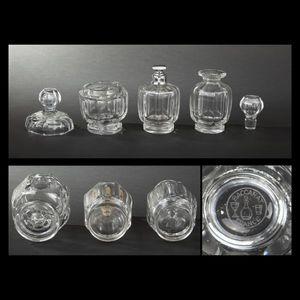 Expertissim - baccarat. garniture de toilette en cristal - Flacone Decorato