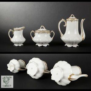 Expertissim - limoges. service à café en porcelaine - Servizio Da Caffè