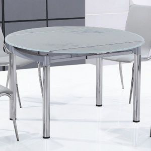 Smart Boutique Design - table en verre ronde nubes - Tavolo Da Pranzo Rotondo
