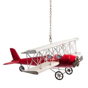 Maisons du monde - avion vintage us - Lampada A Sospensione Bambino