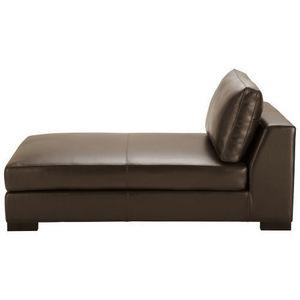Maisons du monde - méridienne cuir marron terence - Chaise Longue
