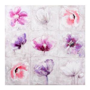 Maisons du monde - toile fleurs agathe - Tela
