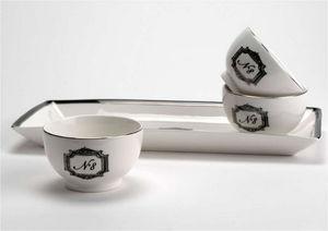 Amadeus - plateau 3 coupelles en porcelaine grand hôtel 34x1 - Scodella