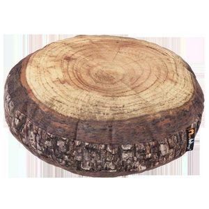 MEROWINGS - forest annual ring cushion - Cuscino Rotondo