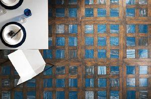 PARQUET IN - grey oak light blue marble - Parquet