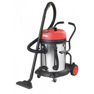 RIBITECH - aspirateur eau/poussière 2x1200w/60l inox ribitech - Aspiratore D'acqua E Polvere