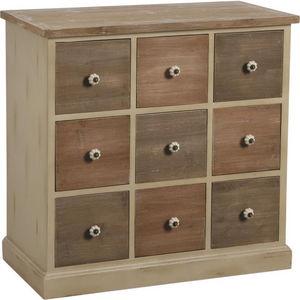 Aubry-Gaspard - commode 9 tiroirs en pin la fabrique - Cassettiera