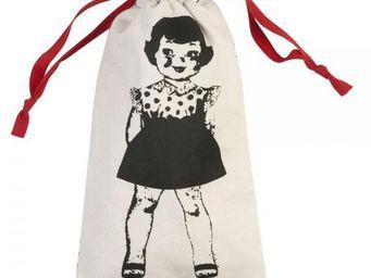 La Chaise Longue - pochette à linge paper dolls rouge - Sacco Per Biancheria