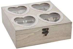 Aubry-Gaspard - boîte à couture coeur - Scatola Da Cucito
