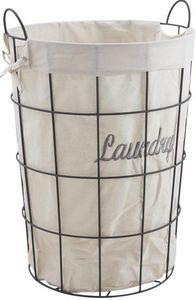 Aubry-Gaspard - panier à linge métal laundry - Cestino Biancheria