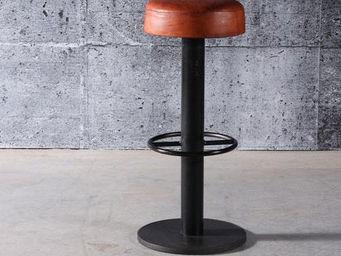 Mathi Design - tabouret de bar steel cuir - Sgabello Da Bar