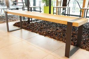 Mathi Design - banc bois et acier - Panca