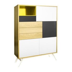 Mathi Design - meuble norvège jaune - Mobile Bar
