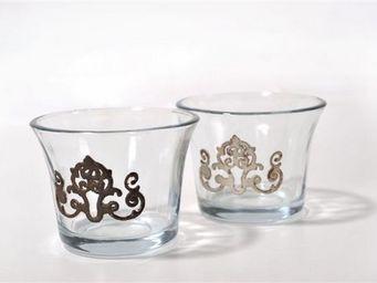 Coquecigrues - boite de 6 photophores bonheur - Bicchiere Portacandela