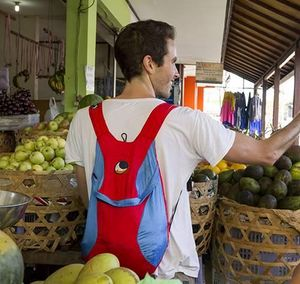 TICKET TO THE MOON - eco backpack - Zaino