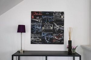 CARS AND ROSES -  - Quadro Decorativo