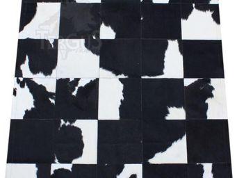 Tergus - tapis peau de vache noir et blanc naturel ref.716 - Pelle Di Mucca
