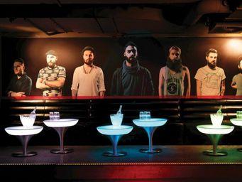 Moree - lounge m 45 led - Tavolino Rotondo Per Esterni