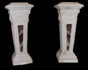 Demeure et Jardin - paire de colonnes - Colonna
