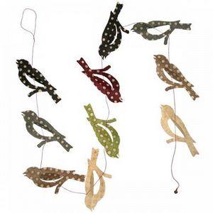Lamali - guirlande oiseaux colorées motifs pois forêt - Ghirlanda Bambini