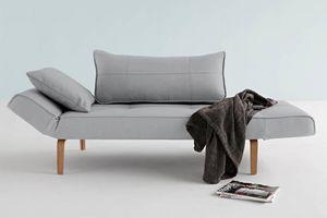 WHITE LABEL - innovation living canape lit design zeal bow pacif - Divano Letto Clic Clac (apertura A Libro)