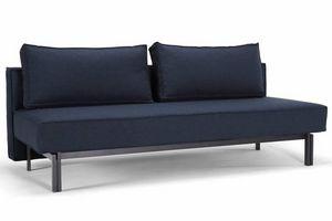 WHITE LABEL - innovation living canape lit design sly bleu nist  - Divano Letto Clic Clac (apertura A Libro)