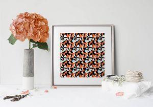 la Magie dans l'Image - print art puzzle orange - Poster