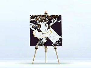 la Magie dans l'Image - toile ogre arbre fond marron - Stampa Digitale Su Tela