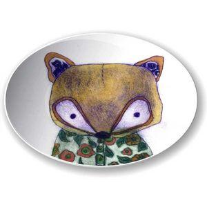 la Magie dans l'Image - assiette mon petit renard vert - Piattino Per Bambini