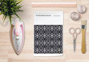 la Magie dans l'Image - papier transfert rzseau floral noir - Trasferibile