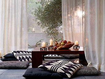 Ralph Lauren Home - black palms - Cuscino Da Pavimento