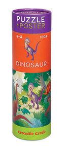 BERTOY - 100 pc puzzle & poster dinosaur - Puzzle Per Bambini