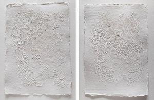 LAUREN COLLIN - papier sculpté., - Quadro Contemporaneo