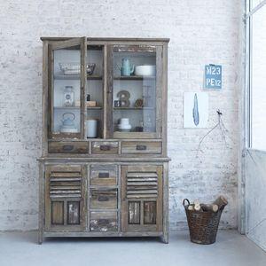 BOIS DESSUS BOIS DESSOUS - vaisselier en bois de pin recyclé 140 vintage - Credenza Con Piattaia