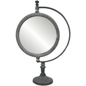 CHEMIN DE CAMPAGNE - grand miroir psyché à poser sur pied en fonte d'a - Specchietto Da Tavolo