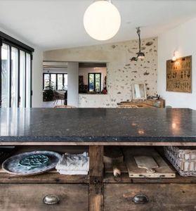 Marbrerie Des Yvelines -  en pierre bleue belge  - Piano Da Lavoro Cucina