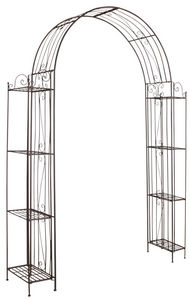Aubry-Gaspard - arche de jardin pour plante grimpante en métal vie - Arco Per Rampicanti
