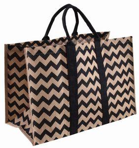 Aubry-Gaspard - sac à bûches en toile de jute origami - Sacca Portalegna