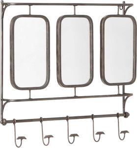 Amadeus - porte manteaux triple miroirs en métal - Appendiabiti Da Parete